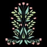 Modello stilizzato del tulipano di vettore illustrazione di stock