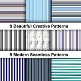 Modello a strisce astratto nel retro stile Tessuto & modello di web design royalty illustrazione gratis