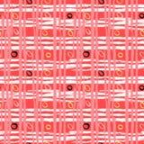 Modello a strisce d'annata con le linee spazzolate Fotografie Stock