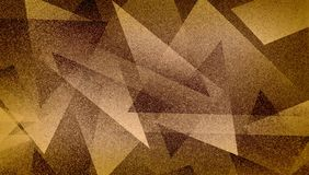 Modello a strisce e blocchi protetti fondo marrone astratto in linee diagonali con struttura marrone blu d'annata fotografie stock