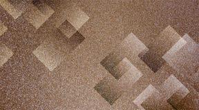 Modello a strisce e blocchi protetti fondo marrone astratto in linee diagonali con struttura marrone d'annata fotografia stock