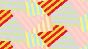 Modello a strisce giallo e blu rosso astratto moderno semplice della maglia del blocco Fotografie Stock