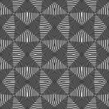 Modello a strisce monocromatico senza cuciture di progettazione Fotografie Stock Libere da Diritti
