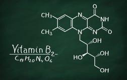 Modello strutturale della riboflavina della vitamina B2 Fotografia Stock Libera da Diritti