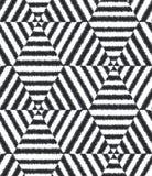 Modello strutturato della maglia geometrica senza cuciture Fotografie Stock