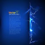 Modello su elettricità e su potere Immagine Stock