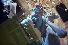 Modello su un festival di corpo-arte Fotografie Stock
