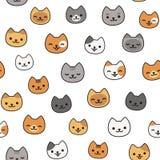 Modello sveglio del gatto Immagini Stock