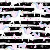 Modello sveglio di vettore dell'unicorno Immagine Stock Libera da Diritti