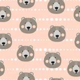 Modello sveglio senza cuciture degli orsi Fondo di vettore per i bambini illustrazione di stock