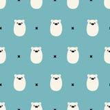 Modello sveglio senza cuciture dell'orso polare Immagini Stock