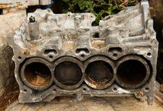 Modello tagliato di un motore di veicolo Fotografie Stock