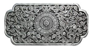 Modello tailandese d'argento su fondo bianco isolato Fotografia Stock