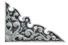 Modello tailandese d'argento su fondo bianco isolato Fotografia Stock Libera da Diritti