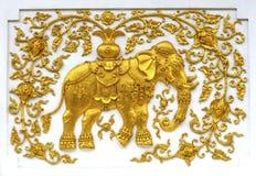 Modello tailandese dello stucco Fotografie Stock Libere da Diritti