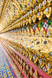 Modello tailandese di arte della parete Fotografia Stock