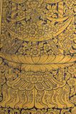 Modello tailandese di arte della parete Fotografia Stock Libera da Diritti