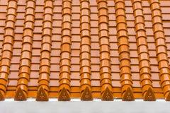 Modello tailandese giallo del tetto del tempio fotografia stock