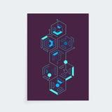 Modello techno cyber di progettazione della copertura di Iisometric Immagine Stock Libera da Diritti