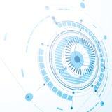 Modello tecnico, fondo digitale di vettore blu con geometr Fotografia Stock Libera da Diritti