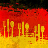 Modello tedesco del menu Immagini Stock Libere da Diritti