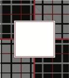 Modello tessuto bianco e rosso nero del grafico del plaid Immagine Stock