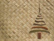 Modello tessuto con l'albero di Natale Immagine Stock