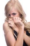 Modello timido Fotografia Stock