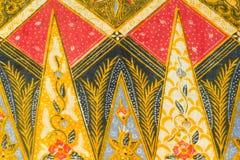 Modello tradizionale dei sarong del batik Immagini Stock Libere da Diritti