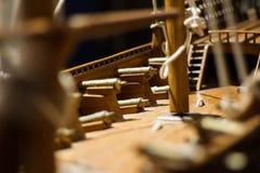 Modello tradizionale della nave da guerra del Bahrain Fotografie Stock