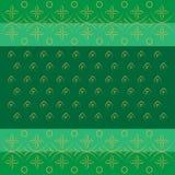 Modello tradizionale indiano del bandhej di Bandhani nel verde Immagine Stock Libera da Diritti