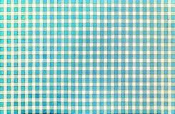 Modello tradizionale rustico classico allegro del percalle in blu-chiaro ed in bianco Fotografia Stock
