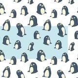 Modello trasparente dei pinguini Immagine Stock