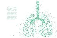 Modello trasversale astratto di forma del polmone, illustrazione di colore blu di progettazione di massima dell'organo di scienza illustrazione vettoriale