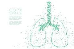 Modello trasversale astratto di forma del polmone, illustrazione di colore blu di progettazione di massima dell'organo di scienza royalty illustrazione gratis