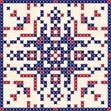 Modello trasversale del punto, ornamento scandinavo royalty illustrazione gratis
