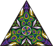 Modello triangolare del fiore tradizionale orientale di vettore Fotografia Stock