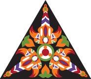 Modello triangolare del fiore tradizionale orientale di vettore Fotografie Stock