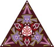 Modello triangolare del fiore tradizionale orientale di vettore Fotografie Stock Libere da Diritti