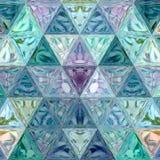 Modello triangolare poligonale astratto geometrico dell'alzavola e del blu Immagini Stock
