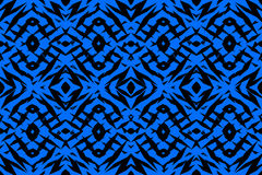 Modello tribale blu di forme Fotografia Stock