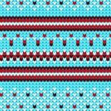 Modello tricottato di inverno del maglione geometrico Fotografia Stock Libera da Diritti