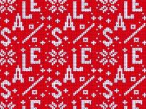 Modello tricottato di vendita del maglione Fotografia Stock