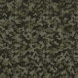 Modello tricottato stile del cammuffamento nei colori verde scuro illustrazione vettoriale