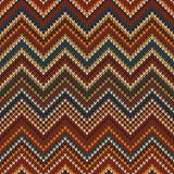 Modello tricottato zigzag Fondo senza cuciture royalty illustrazione gratis