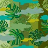 Modello tropicale del cammuffamento Immagine Stock Libera da Diritti