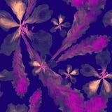 Modello tropicale dell'acquerello Fotografie Stock Libere da Diritti