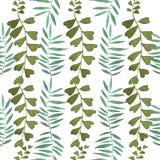 Modello tropicale delle foglie dell'acquerello Immagine Stock Libera da Diritti