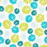 Modello tropicale senza cuciture con le foglie di palma 6 di monstera Fotografia Stock