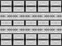 modello unico In bianco e nero Arte moderno Fotografie Stock